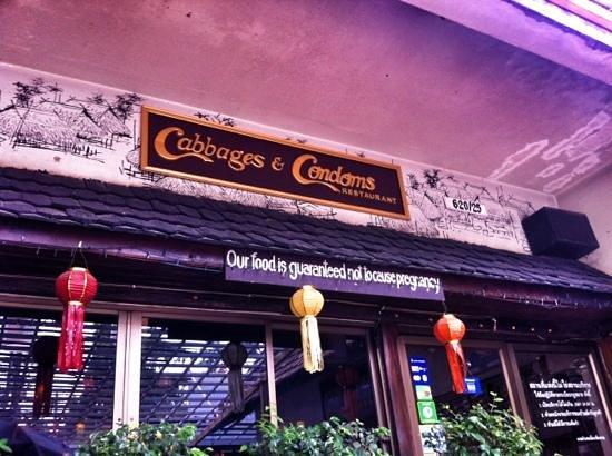 Cabbages & Condoms: entrance
