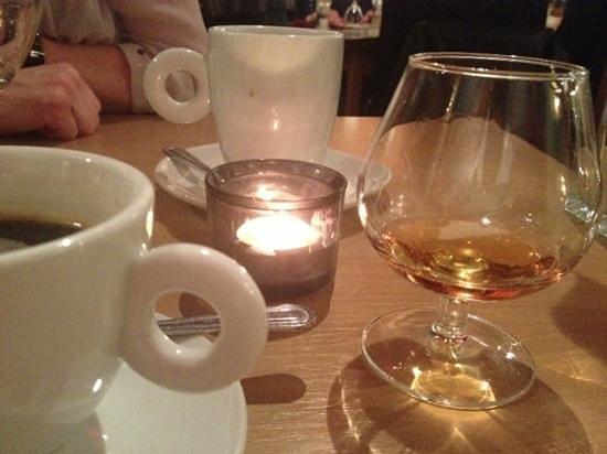 Deja Vu: brandy coffee even the glass is warmed