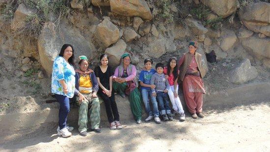 Kinnaur: with local people in Sangla