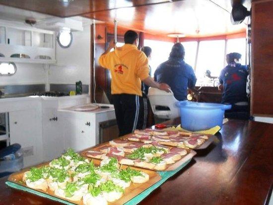 Argentario Divers: Bruschette a bordo