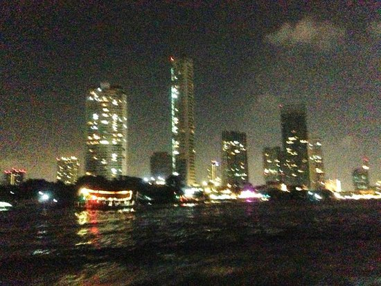 Somerset Park Suanplu : Bangkok view at night from the shuttle boat to Asiatique