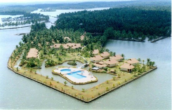 Kollam, Ινδία: Ariel View of Aquasserenne