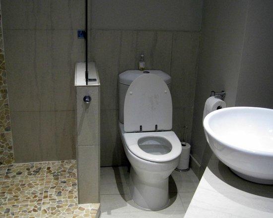 Crystal Lagoon Lodge: modern bathroom - room#8