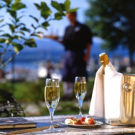Hotel Le Jules Verne : Vue sur la terrasse