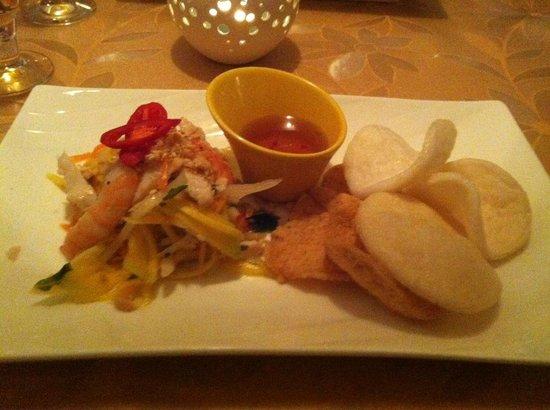Bistro Kivi: Vietnamesisk kålsalat med rejechips