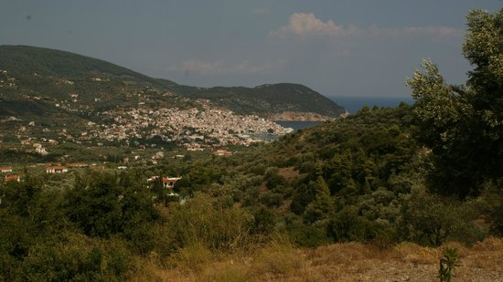 Villa Evelyn: The view of Skopelos from the property