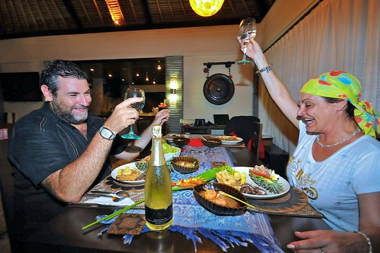 The Zala Villa Bali: dinner and happiness!!