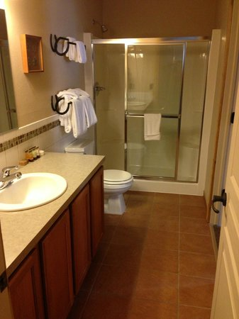 Double JJ Resort: Bathroom - includes built in seats in shower