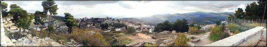 Simcha Leah's Bed and Breakfast: Panorama of Mt. Meron and the northern Galilee, taken atop the Metzuda outlook.