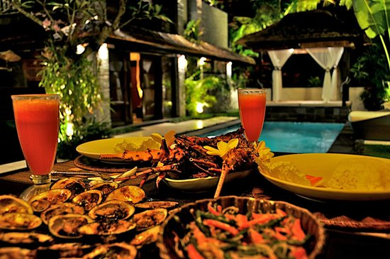 The Zala Villa Bali: great food!!