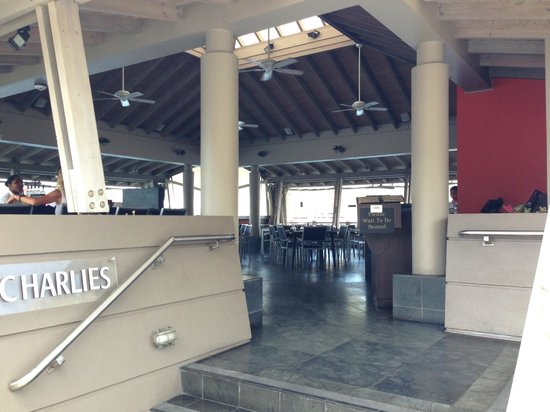 Charlies: Located at the apex of the marina