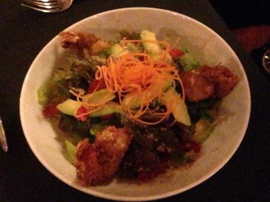 Kafe Bunute: coconut prawn salad