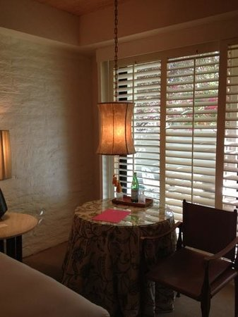 Parker Palm Springs: great sitting area, and cute French modern decor