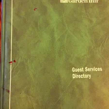 Hilton Garden Inn Atlanta Airport/Millenium Center: Dirty, sticky guest directory