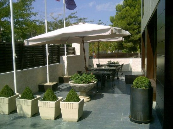 Hotel Desitges: Terraza