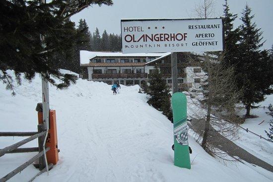 Hotel Olangerhof Mountain Resort: Dalle piste direttamente all'hotel sci/tavola ai piedi e viceversa