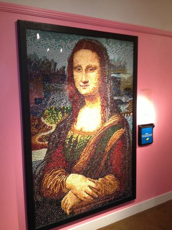 Reading Public Museum: Mona Lisa made out of Jelly Beans