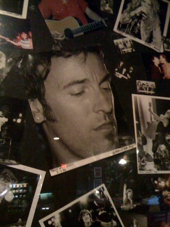 Asbury Park Boardwalk: Bruce on the wall.. The Stone Pony, Asbury Park, NJ