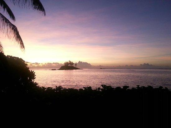 Kempinski Seychelles Resort: tramonto
