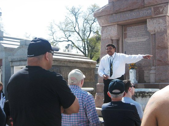 New Orleans Tour Company: At Cemetary #3 with Eugene explaining the burial customes.