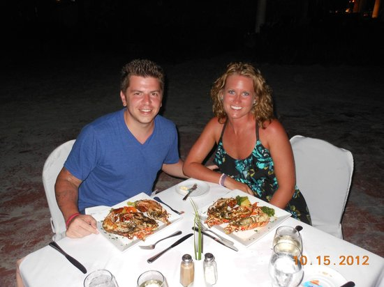 Catalonia Bavaro Beach, Casino & Golf Resort: Dinner on the beach