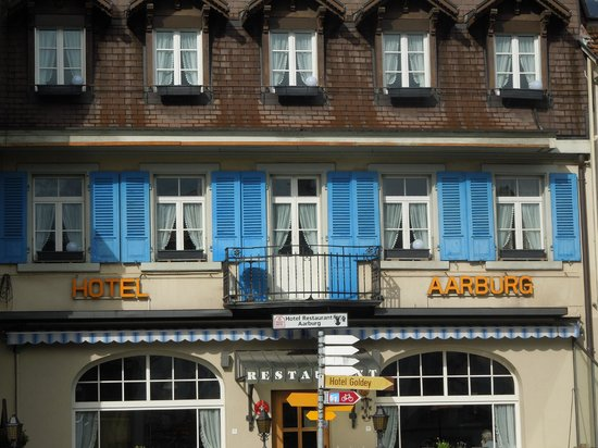 The Aarburg: front of the hotel
