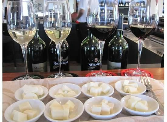 Paarl, Südafrika: wine with goat cheese pairing