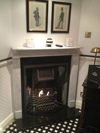 Hotel 41: our cosy fire