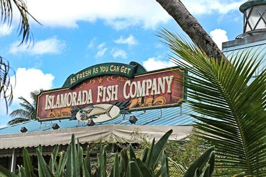 Sign picture of islamorada fish company dania beach for Islamorada fish company menu