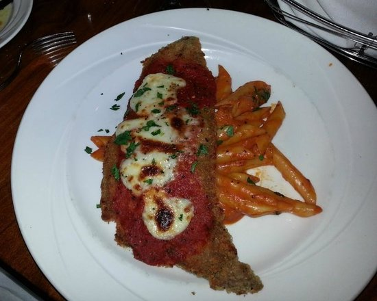 Bertoldi's: Veal Parmigiana - tender and rich with flavor.