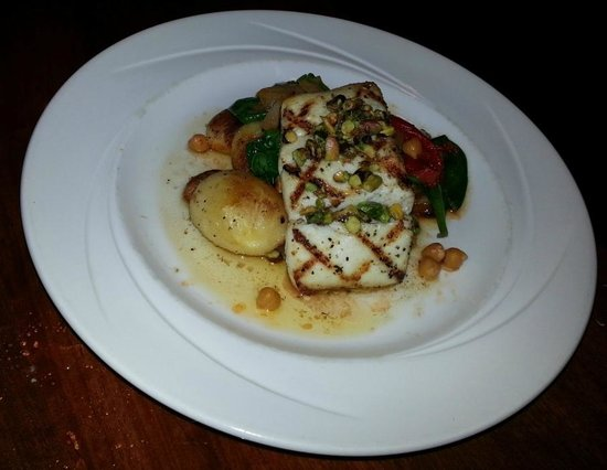 Bertoldi's: Halibut special - broiled, tender and flaky without being dry