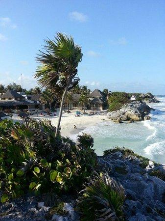 TulumBay Eco Beach: view from walkup lounge