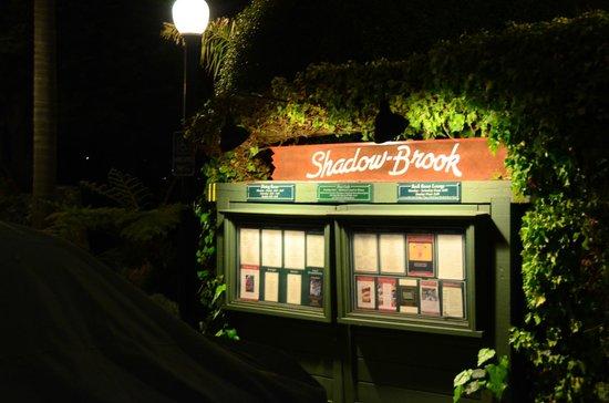 Shadowbrook : Entrance sign