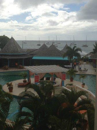 Bay Gardens Beach Resort: view from room 607
