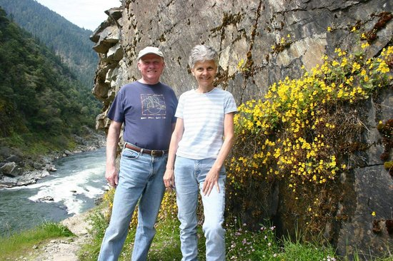 Doubletree Ranch: Carol and guest on trail