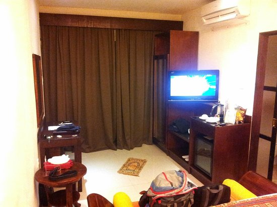Best Western Kuta Villa: Telivision set and fridge