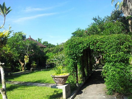 Ubud Villas and Spa: the view to the lobby