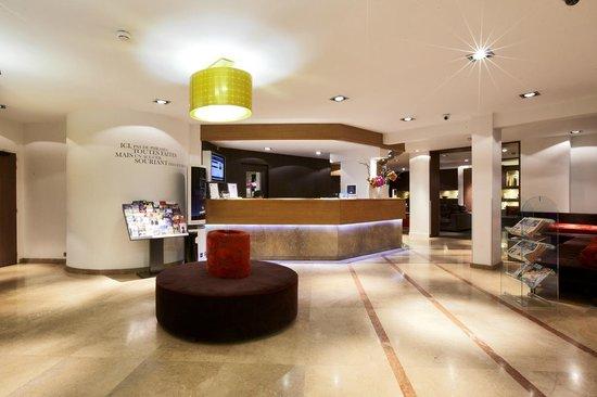 Hotel Paris Boulogne : Hall d'accueil Kyriad Prestige Boulogne Billancourt