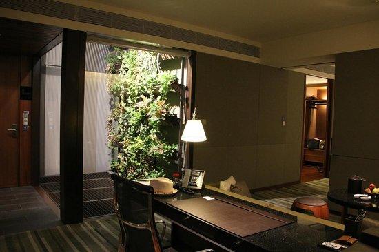 Hansar Bangkok Hotel: veggie wall