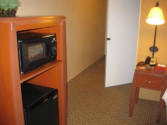Hampton Inn & Suites Bakersfield North-Airport: Microwave and Refrigerator