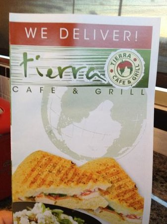 Tierra Cafe & Grill: Tierra menu....