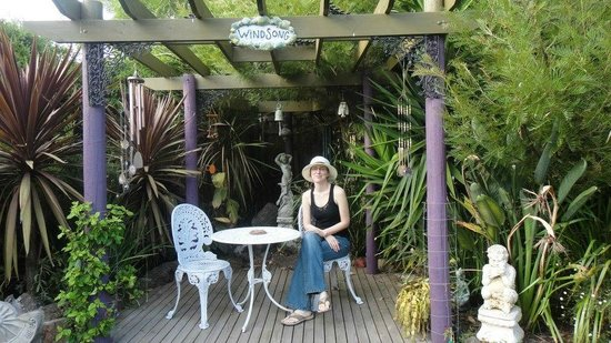 Seas The Day B&B: One of us enjoying part of the garden