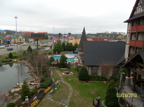 The Inn at Christmas Place: View from Turret Balcony