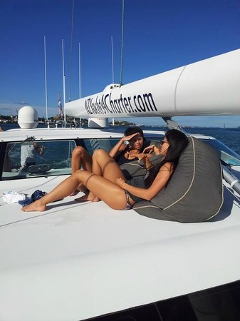 NZ Yachts 4 Charter: Relaxing onboard Helena