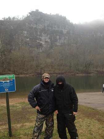 Cotter Trout Dock: My friend norm exaggerated the cold a bit