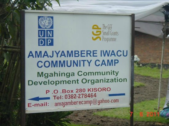 Amajambere Iwacu Community Camp: Sign post