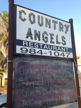 Country Angels: Chalk Board Sign