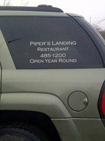 Piper's Landing Restaurant: I snapped a picture of the van phone number