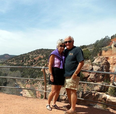 Huckaby Trail: At the bridge overlooking the valley