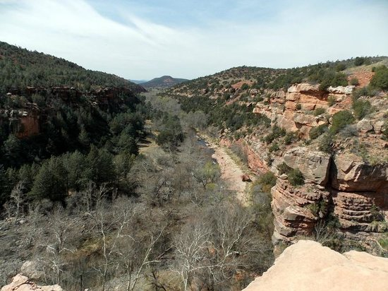 Huckaby Trail: Valley view from the top